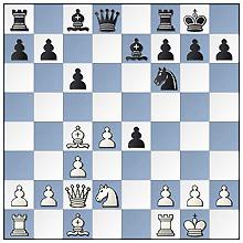 Cor van Dongen-Eric van der Klooster, stand na 13.Dd1-c2
