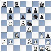 André Breedveld-Robert van der Wal, stand na 22.De3xb6 axb6