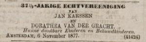 Advertentie Algemeen Handelsblad 6 november 1877
