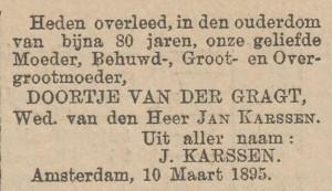 Advertentie in Het nieuws van de dag: kleine courant van 13 maart 1895