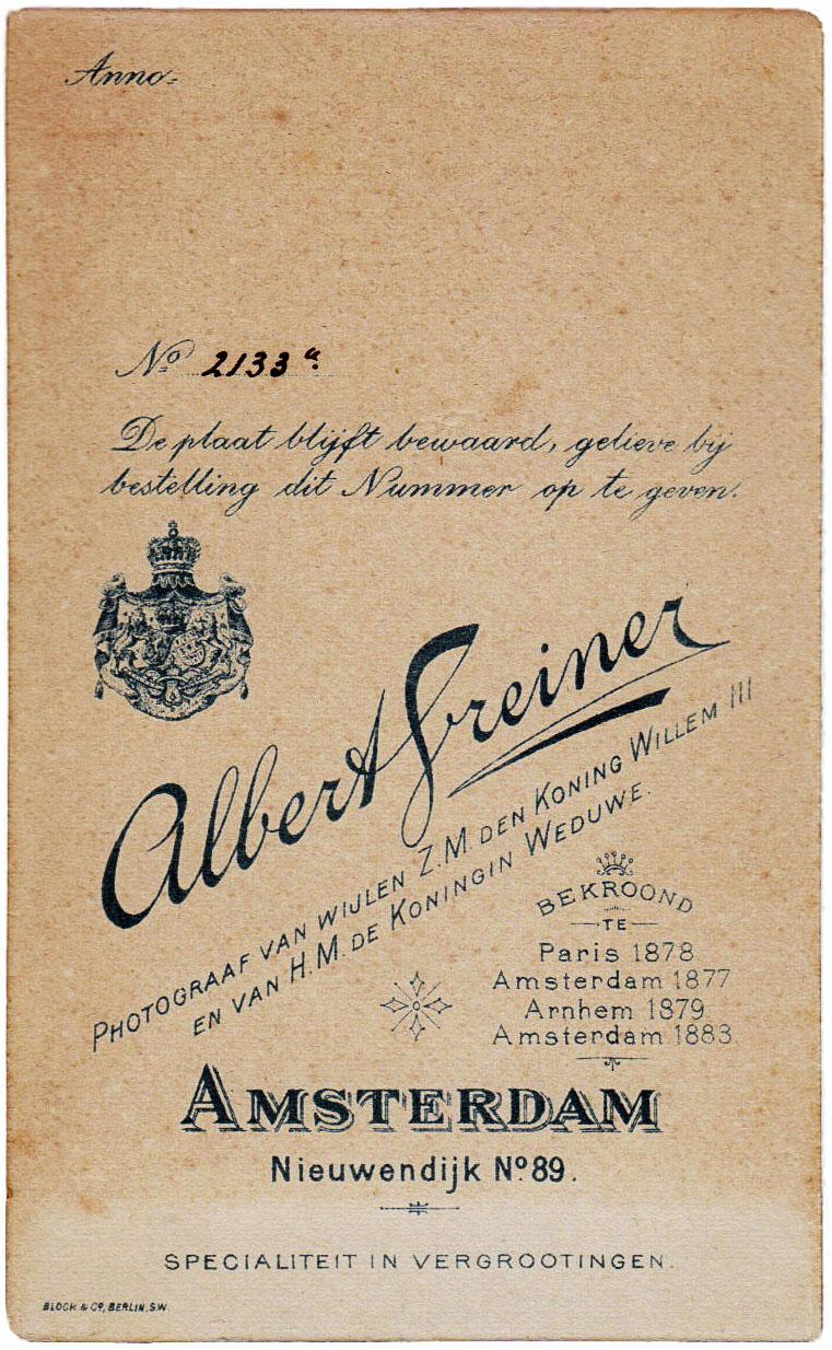 Albert Greiner Photograaf van wijlen den koning 1