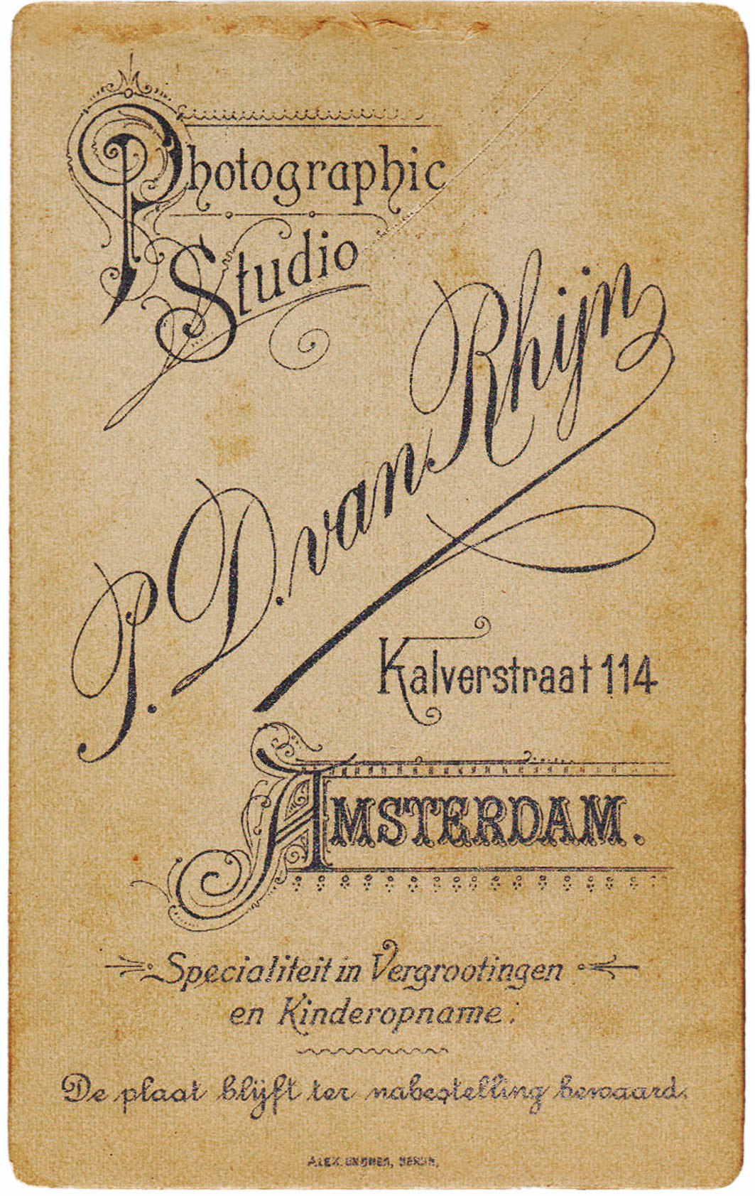 Photographic Studio van Rhijn