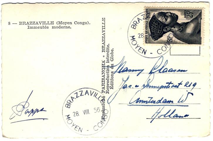 1956 Brazzaville - Post Card